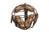 Vintage baseball catchers mask isolated on white
