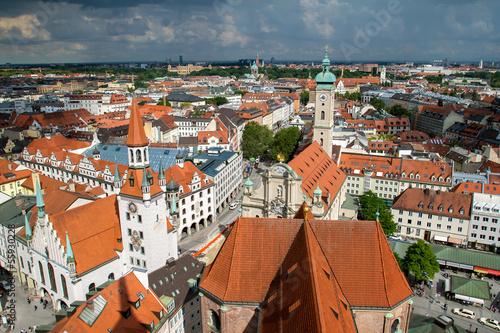 View of Munich city center. Munchen, Germany
