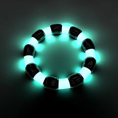 Bracciale neon luce energia