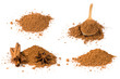 set of cocoa powder