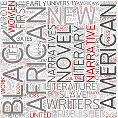 African American literature Word Cloud Concept