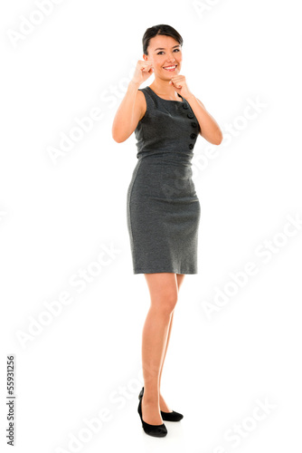 Competitive business woman