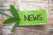 grüne NEWS Plakette