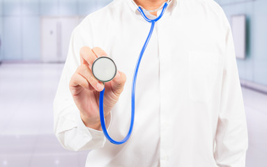 stethoscope in doctor's hand