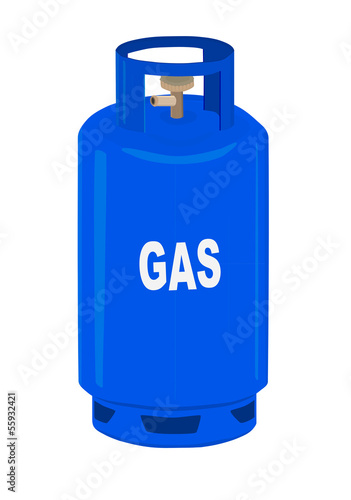 Propane gas cylinder - vector illustration.