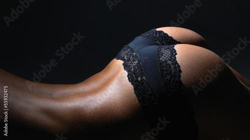 Nude female body in sexy underwear - 55932475