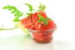 cut watermelon closeup