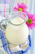 milk in jug