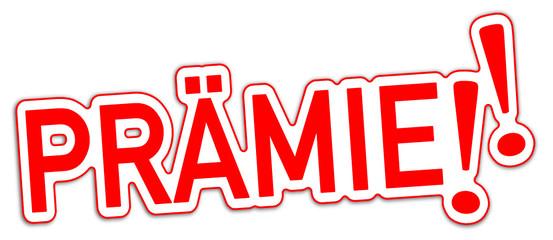 Prämie Bonus Sticker 3-d rot  #130906-svg08