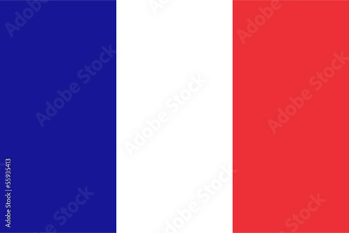canvas print picture French flag