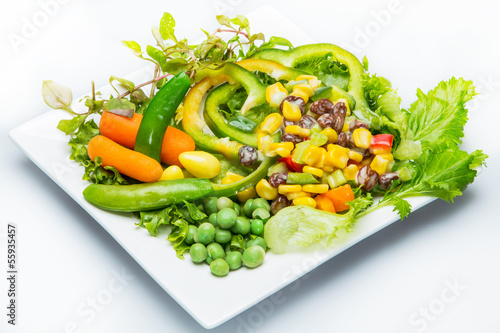 Salad with mixed vegetables  Food for diet