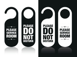 please do not disturb and service my room signs