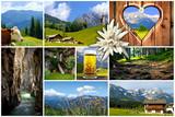 Alpenpanoramen im Sommer