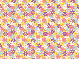 abstract seamless soft color flowers pattern