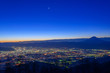 Night view of the Kofu city and Mt.Fuji