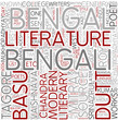 Bengali literature Word Cloud Concept