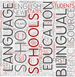 Bilingual education Word Cloud Concept