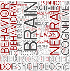 Behavioral neuroscience Word Cloud Concept