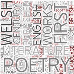 British literature Word Cloud Concept