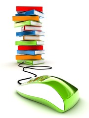 books,computer mouse