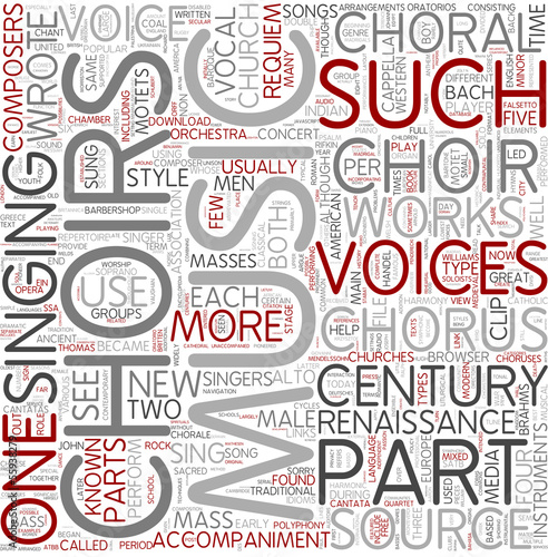 Choir Word Cloud Concept