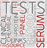 Clinical biochemistry Word Cloud Concept poster