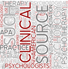 Clinical psychology Word Cloud Concept