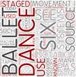 Dance notation Word Cloud Concept