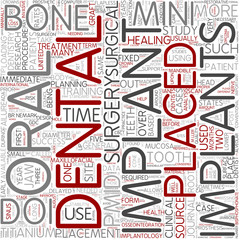 Dental implant Word Cloud Concept
