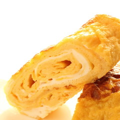 japanese cuisine, close up of fried egg roll