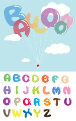 Colorful Balloon Alphabet Design