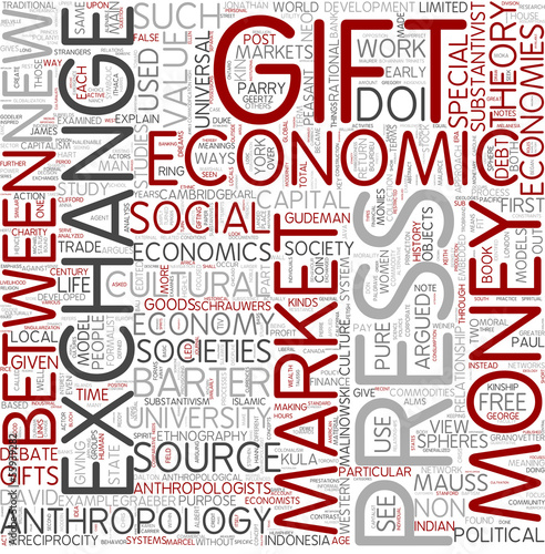 Economic anthropology Word Cloud Concept