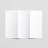 Blank trifold paper brochure. poster