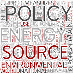 Energy policy Word Cloud Concept