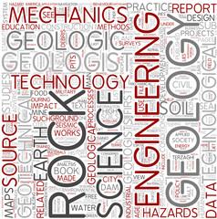 Engineering Geology Word Cloud Concept