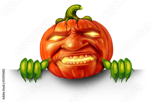 Pumpkin Character Blank Sign
