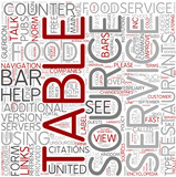 Foodservice Word Cloud Concept