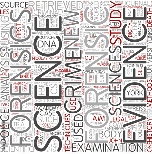 Forensic science Word Cloud Concept