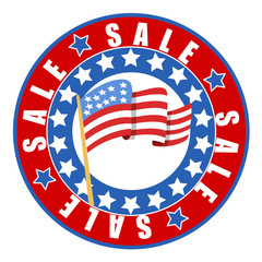 Sale on independence day vector seal badge