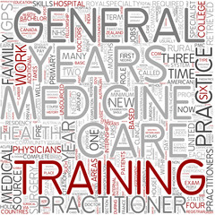 General practice Word Cloud Concept
