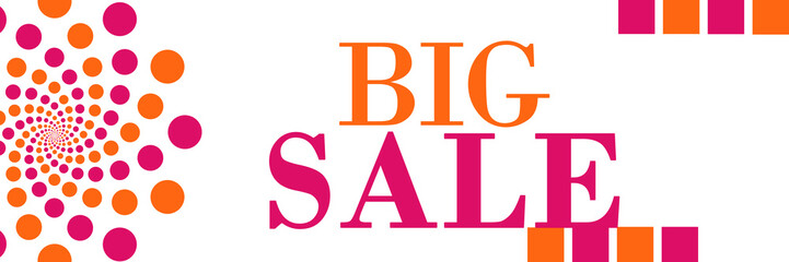 Big Sale Banner Circles