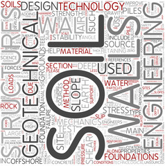 Geotechnical engineering Word Cloud Concept