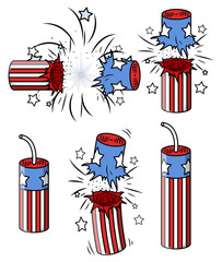 Festive Fireworks Vector Collection