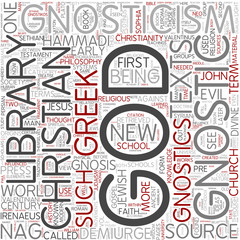 Gnosticism Word Cloud Concept