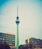 TV Tower, Berlin retro look
