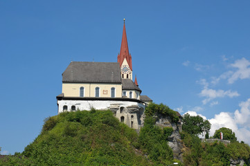 old church on a mountain top