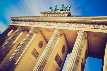 Brandenburger Tor, Berlin retro look
