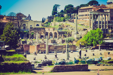 Roman Forum, Rome retro look