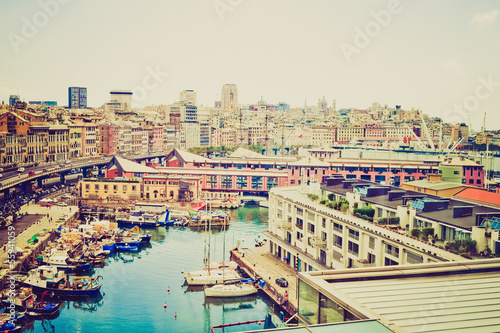 Genoa, Italy retro look