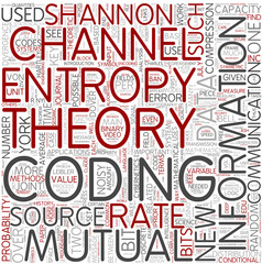 Information theory Word Cloud Concept